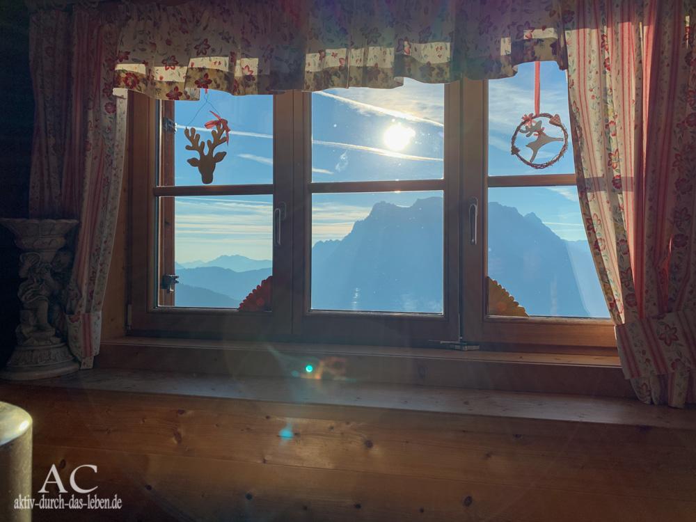 Wolfratshauser Hütte Blick aus dem Fenster