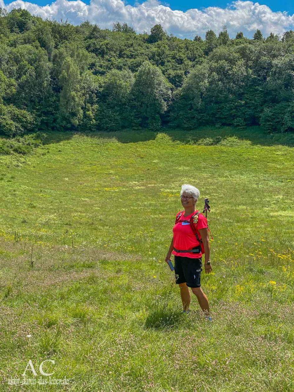 Wandern in der Vulkaneifel Gerolsteiner Felsenpfad Trockenmaar